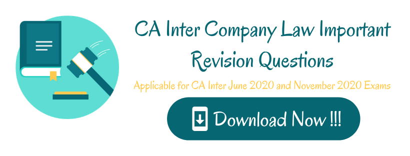 CA Inter Company Law Important Revision Questions (1)