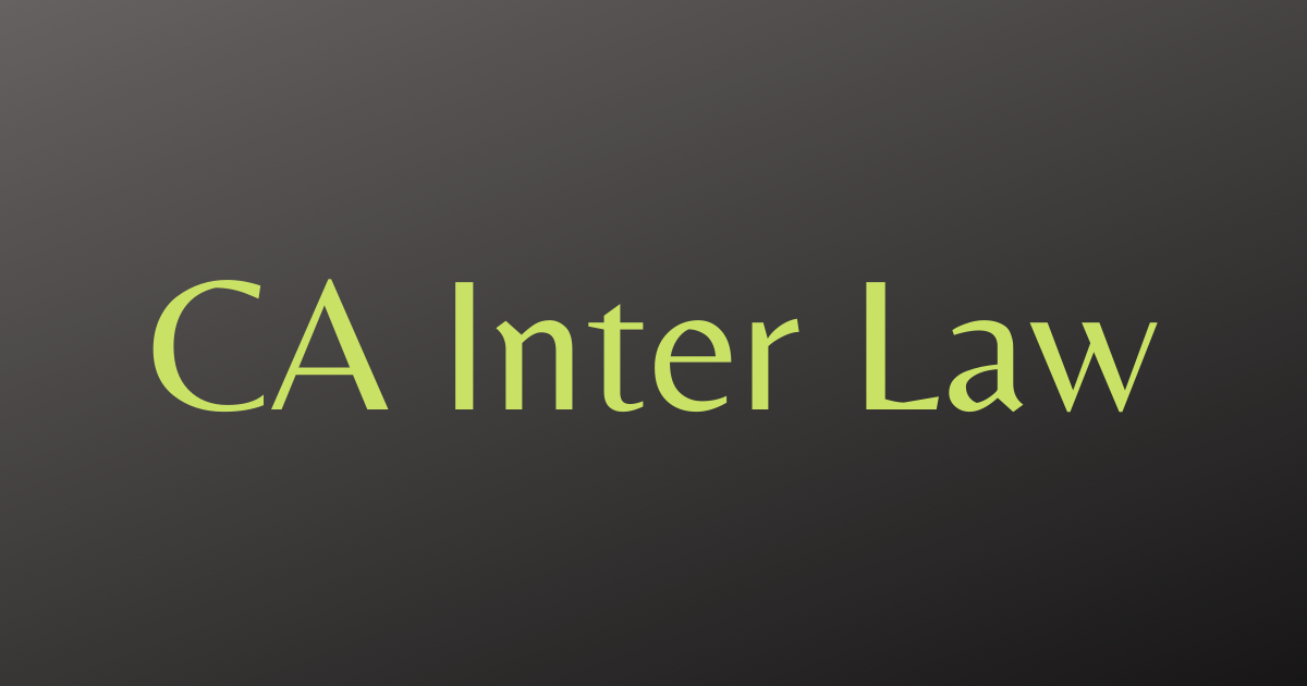 CA Inter Law