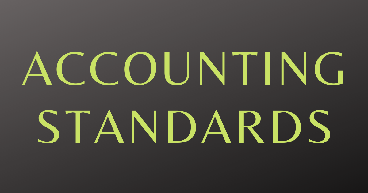 Accounting Standards (1)
