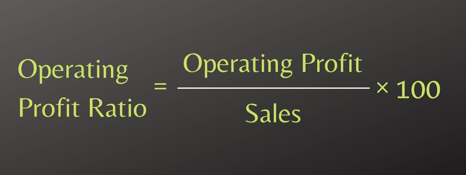 Operating Profit Ratio