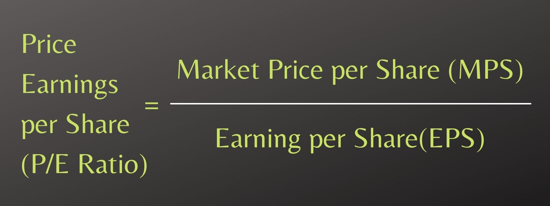 Price Earnings per Share (P_E Ratio)