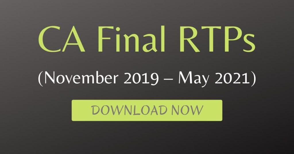 CA Final RTPs